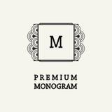 Stylish  graceful monogram  in Art Nouveau style Stock Photos