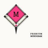 Stylish  graceful monogram in Art Nouveau style Stock Images