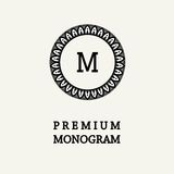 Stylish  graceful monogram in Art Nouveau style Royalty Free Stock Images
