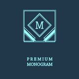 Stylish  graceful monogram  in Art Nouveau style Royalty Free Stock Image