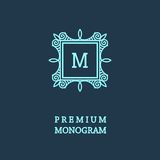 Stylish  graceful monogram  in Art Nouveau style Royalty Free Stock Photo