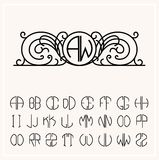 Stylish  graceful monogram Royalty Free Stock Photo