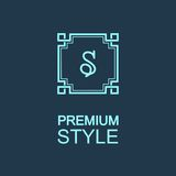 Stylish  graceful monogram Stock Images