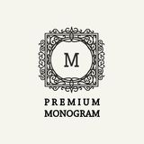 Stylish  graceful monogram in Victorian Style Royalty Free Stock Images