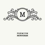 Stylish  graceful monogram  in Victorian Style Stock Image