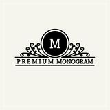 Stylish  graceful monogram in Victorian Style Stock Photos