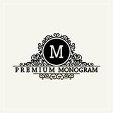 Stylish  graceful monogram in Victorian Style Stock Image