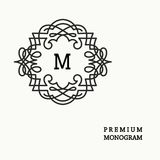 Stylish  graceful monogram  in Victorian Style Stock Photography