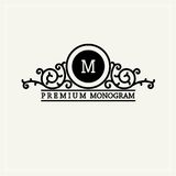 Stylish  graceful monogram in Victorian Style Royalty Free Stock Photography