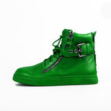 Stylish green boots Royalty Free Stock Image