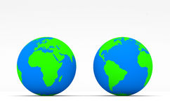 Stylish Green Globe on white background Royalty Free Stock Images