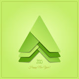 Stylish green. New modern, abstract Christmas tree icon. new year event vector design Stock Photos