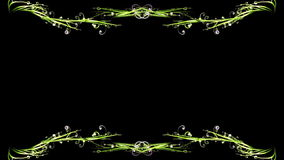 Stylish green swirls frame, stock footage Stock Image
