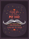 Stylish greeting card for Happy Fathers Day. Royalty Free Stock Photos