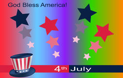 Stylish greeting card for Independence Day Stock Photo