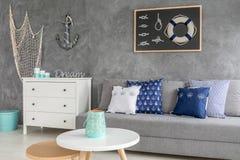 Stylish grey living room Stock Image