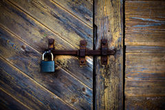 Stylish grungy image of an old deadbolt Royalty Free Stock Image