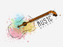 Stylish guitar for Music concept. Royalty Free Stock Image