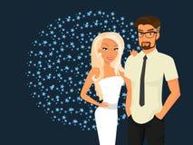 Stylish guy and his pretty girlfriend Stock Image