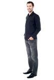 Stylish guy in trendy attire Stock Photos