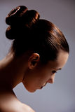 Stylish hair. Beautiful girl with a elegant hairstyle Royalty Free Stock Photography
