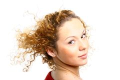 Stylish hair girl Royalty Free Stock Photo