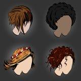Stylish hairstyles Stock Photos