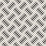 Stylish halftone texture. Endless abstract background with random size shapes. Vector seamless mosaic pattern. vector illustration