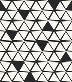 Stylish hand drawn background with structure of uneven triangles and missing pieces Royalty Free Stock Photography