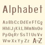 Stylish hand-drawn latin alphabet Royalty Free Stock Photo