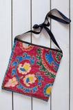 Stylish handbag with ethnic pattern Royalty Free Stock Photo