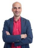 Stylish handsome bald man wearing casual jacket Royalty Free Stock Image