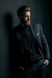 Stylish handsome bearded man royalty free stock photography