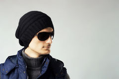 Stylish handsome man in dark sunglasses Royalty Free Stock Photo