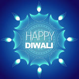 Stylish happy diwali background Stock Image