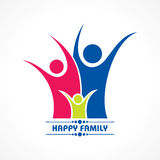 Stylish  Happy Family Greeting Royalty Free Stock Photography