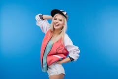 Stylish happy female teenager Stock Photography