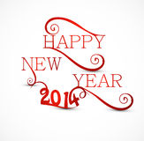 Stylish Happy New Year 2014. Artistic colorful design Royalty Free Illustration
