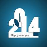 Stylish happy new year 2014 colorful holiday backg Royalty Free Stock Photos