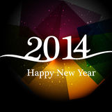 Stylish happy new year 2014 colorful holiday. Background Stock Illustration