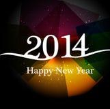 Stylish happy new year 2014 colorful holiday Stock Image