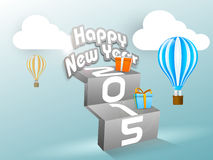 Stylish Happy New Year 2015 poster design. Royalty Free Stock Images