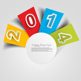 Stylish for happy new year text colorful design Stock Images