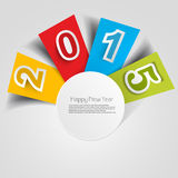 Stylish for happy new year 2015 text Stock Image