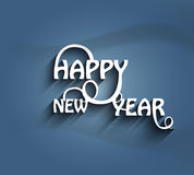 Stylish for happy new year text colorful design  Royalty Free Stock Images