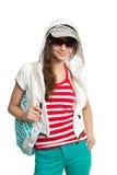 Stylish happy teen girl Stock Images