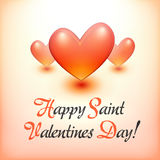 Stylish Happy Valentine Day postcard. Stock Images