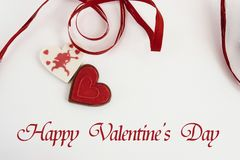 Stylish heart candy with cupid on white background, happy valent Stock Images