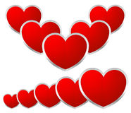Stylish Hearts composition Stock Images