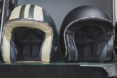 Stylish helmets on display at EICMA 2014 in Milan, Italy Stock Photo